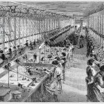 Women in a watch factory in Waltham, Massachusetts